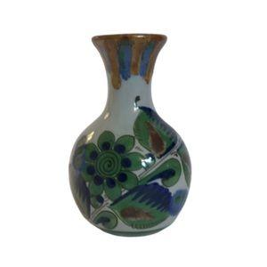 Vintage Mexican Tonala Ceramic Vase